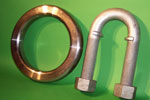 Mooring ring and U-bolt-Lawndale Forge